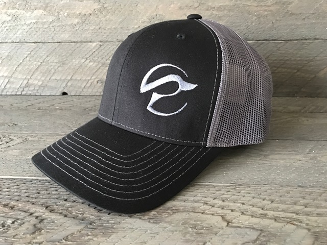 Revolution Waterfowl Black   Charcoal Mesh Back Logo Hat ... b03470684be
